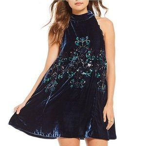 Free People Jill Sequin Velvet Dress